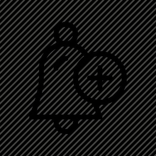 Add, alarm, alert, bell, signal icon - Download on Iconfinder