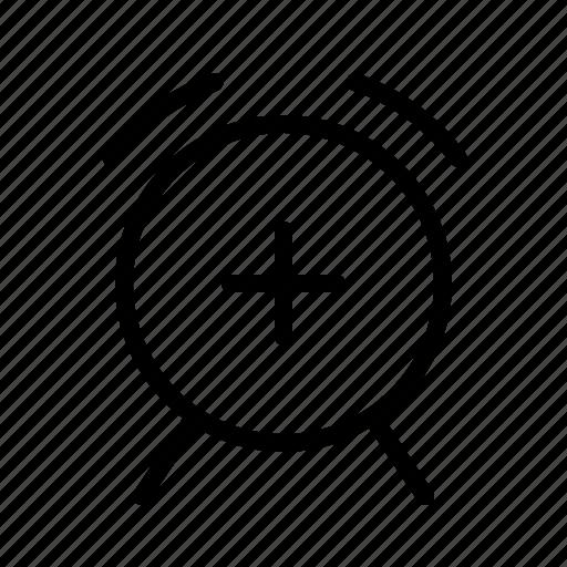 add, alarm, alert, bell, clock, signal icon