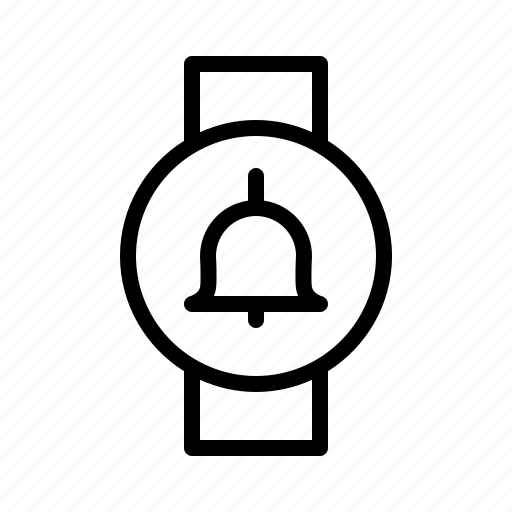 alarm, alert, bell, signal, smartwatch icon