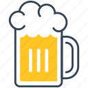 beer, drink, foam, glass icon