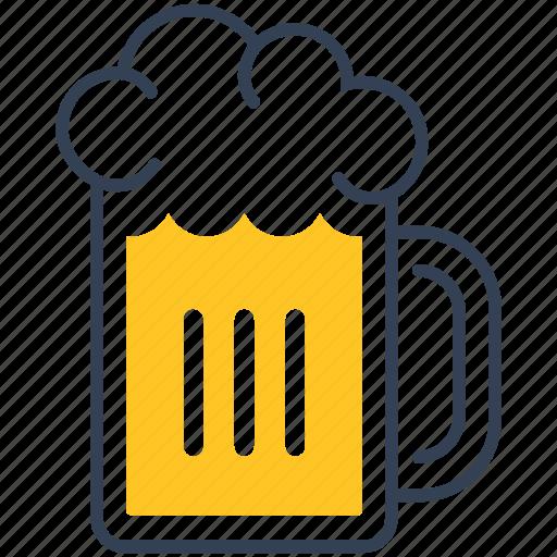 beer, drink, foam, glass icon