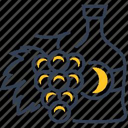 cognac, fruit, wine icon