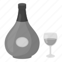 alcohol, beverage, bottle, cognac, drink, glass icon