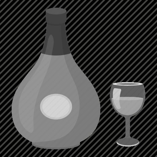 alcohol, beverage, bottle, cognac, drink, glass icon