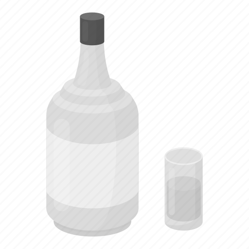 absinthe, alcohol, beverage, bottle, drink, glass icon