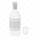 alcohol, beverage, bottle, drink, glass, vodka icon