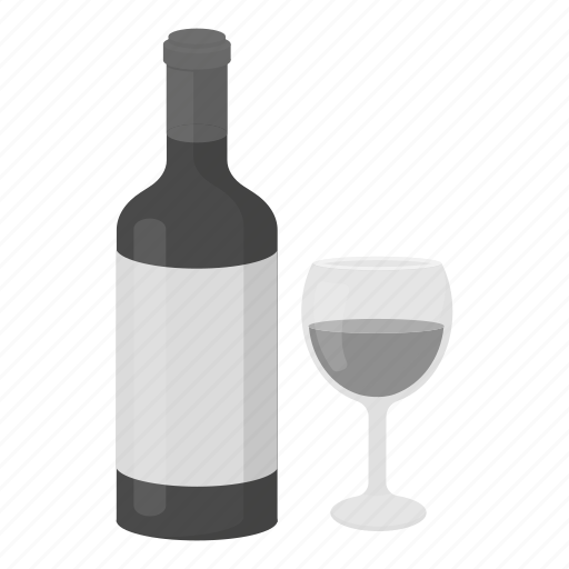 alcohol, bottle, drink, glass, grape, red, wine icon