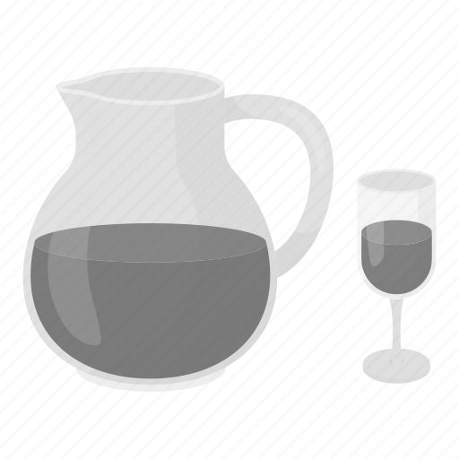 alcohol, drink, glass, jug, sangria, wine icon