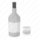 alcohol, beverage, bottle, drink, glass, rum icon