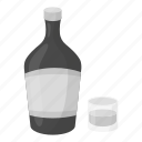 alcohol, beverage, bottle, drink, glass, liquor icon