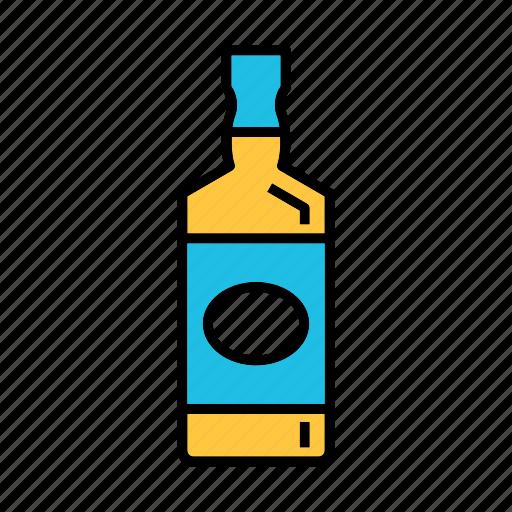 alcohol, american whisky, beverage, bourbon, liquor bottle icon