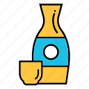 alcohol, beverage, japanese liquor, rice wine, sake bottle icon