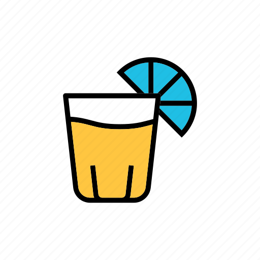 beverage, booze, lime juice, small glass, tequila shot icon