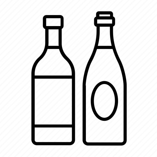 alcohol, bottle, bottles, champagne, spirits, whisky, wine icon