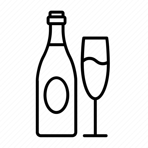 alcohol, bottle, champagne, champagne bottle, champagne toast, drink, glass icon