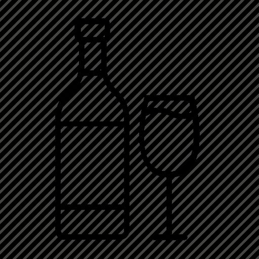 alcohol, bottle, drink, red wine, wine, wine bottle, wine glass icon