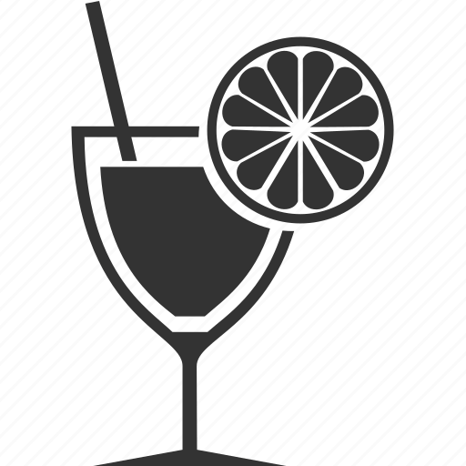 alcohol, drink, food, glass, lemon icon