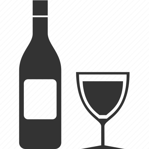 alcohol, bottle, drink, food, glass icon
