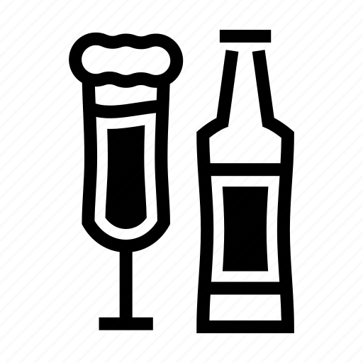 alcohol, beverage, brewery, craft beer, draft, glass, pint icon