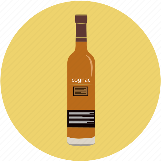 alcohol, bar, beverage, bottle, brandy, cognac, drink icon