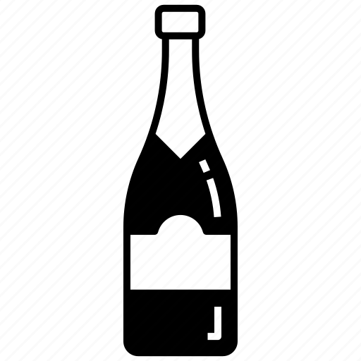 alcohol, burgundy, celebration, champagne bottle, sparkling wine icon