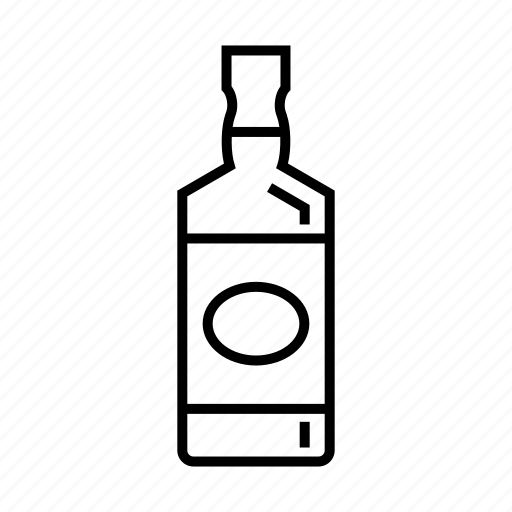 alcohol, american whisky, beverage, bourbon, drink, liquor bottle icon