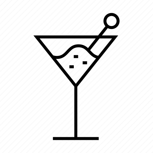 alcohol, beverage, cocktail glass, drinkware, martini icon