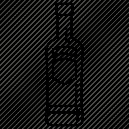 alcohol, booze, hard liquor, malt beverage, vodka bottle icon