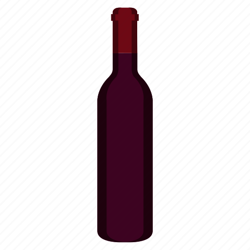 alcohol, alcoholic, beverage, bottle, red wine, refreshment, wine icon