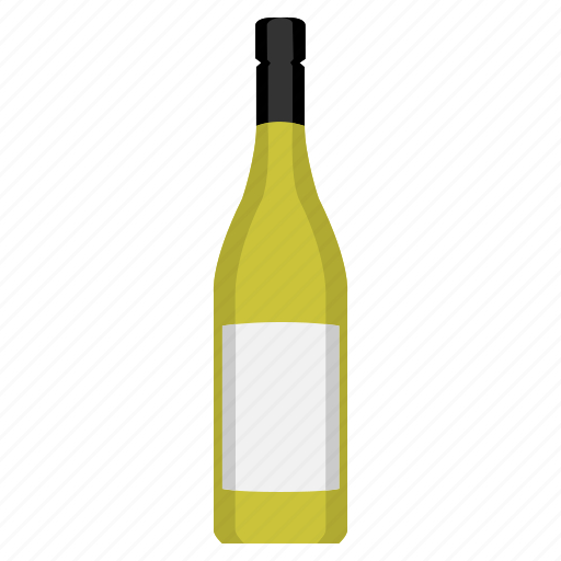 alcohol, alcoholic, bottle, drink, drinking, white wine, wine icon