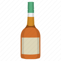 alcohol, booze, bottle, brandy, drink, spirit icon