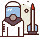 astronaut, rocket, science, space