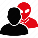 alien, collaboration, group, humanoid, man, staff, team icon