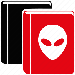 alien, archive, books, data, documents, education, library icon