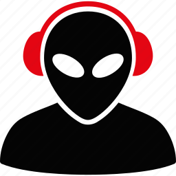 alien, assistant, call, contact, headset, operator, service icon