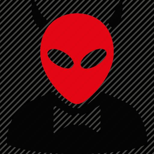 alien, devil, evil, horror, monster, satan, visitor icon