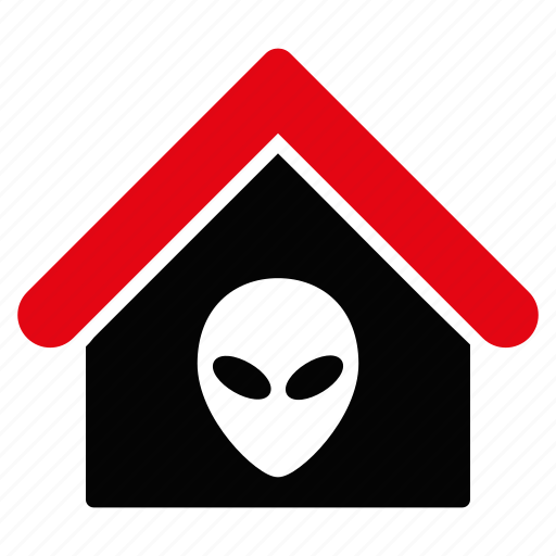 address, alien, building, company, home, house, office icon