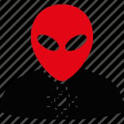 alien, cyber, cyborg, machine, robo, robot, robotics icon