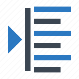 align, alignment, format, right, text icon