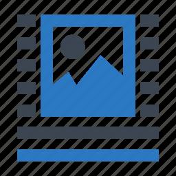 align, alignment, center, format, photo icon