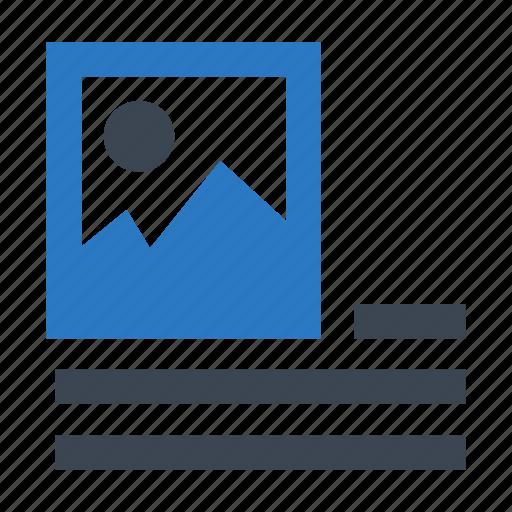 align, document, image, left, picture icon