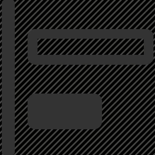 align left edges, align objects left, direction left, move edges left, move objects left icon