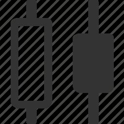 distribute horizontal centers, distribute horizontally, horizontal elements distribution, shape horizontal distribution icon