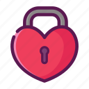 heart, lock, love, privacy, private, valentine icon