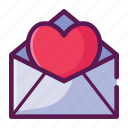 love, mail, message, valentine icon