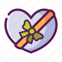 gift, love, present, ribbon, valentine icon