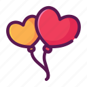 baloons, heart, love, valentine icon