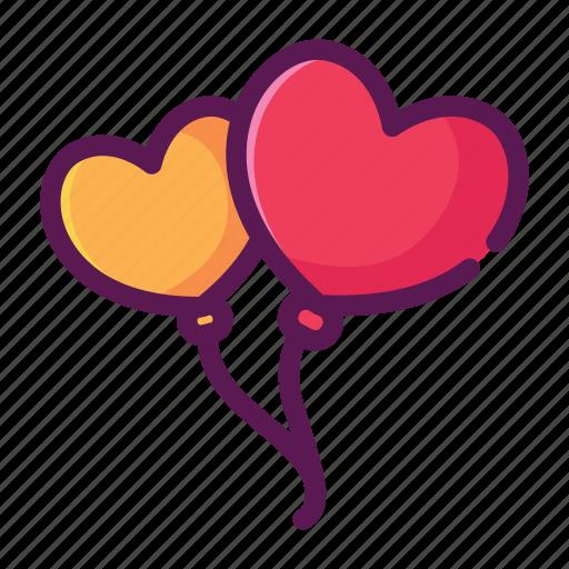 baloons, heart, love, valentine icon