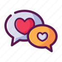 chat, love, message, talk, valentine icon