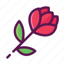 flower, gift, love, romance, romantic, rose, valentine icon